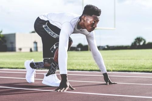 athlète prêt pour la course